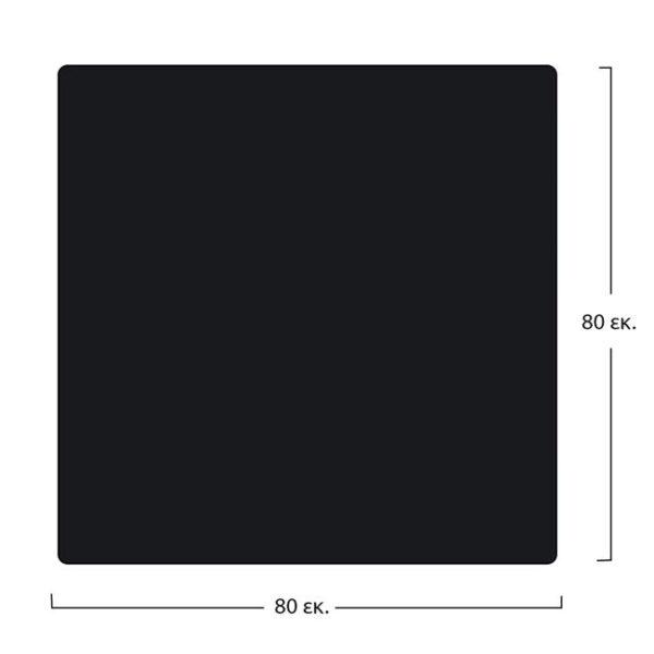 ΕΠΙΦΑΝΕΙΑ ΤΡΑΠΕΖΙΟΥ COMPACT HPL 80X80 εκ. ΜΑΥΡΗ HM5162.03