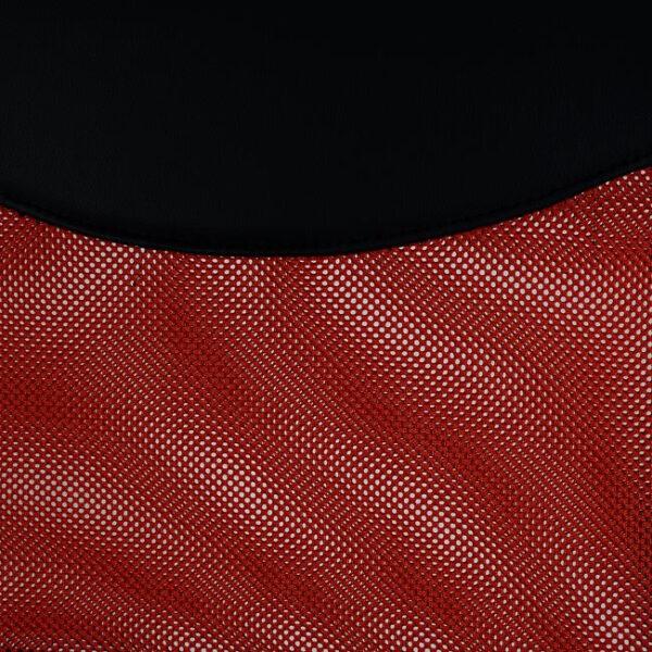 ΚΑΡΕΚΛΑ ΓΡΑΦΕΙΟΥ HM1000.07 ΜΑΥΡΟ ΚΟΚΚΙΝΟ MESH ΠΟΔΙ ΧΡΩΜΙΟΥ 61x58x118Y εκ.