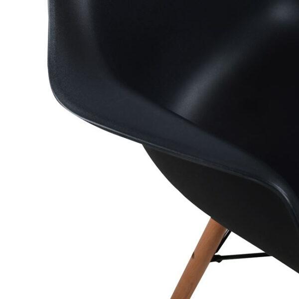 ΠΟΛΥΘΡΟΝΑ ΜΕ ΞΥΛΙΝΑ ΠΟΔΙΑ & ΚΑΘΙΣΜΑ ΜΑΥΡΟ MIRTO HM005.02  64x60x81 εκ.