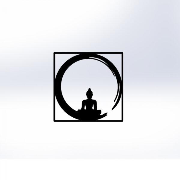 ΔΙΑΚΟΣΜΗΤΙΚΟ ΤΟΙΧΟΥ 100% ΜΕΤΑΛΛΙΚΟ ΜΑΥΡΟ BUDDHA FIGURE 50Χ50 HM7210