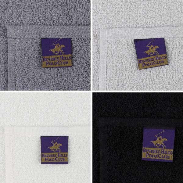 ΠΕΤΣΕΤΕΣ ΛΑΒΕΤΑ 4ΤΜΧ BEVERLY HILLS POLO CLUB HM12124.02 ΜΑΥΡΟ ΓΚΡΙ ΛΕΥΚΟ 30x30 εκ. 355BHP0236